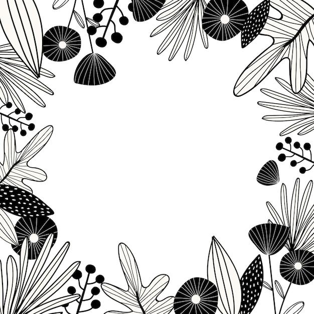 Botanischer designraum Kostenlosen Vektoren