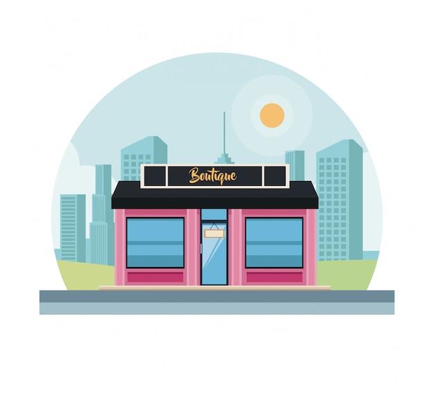 Boutique ladengeschäft Premium Vektoren