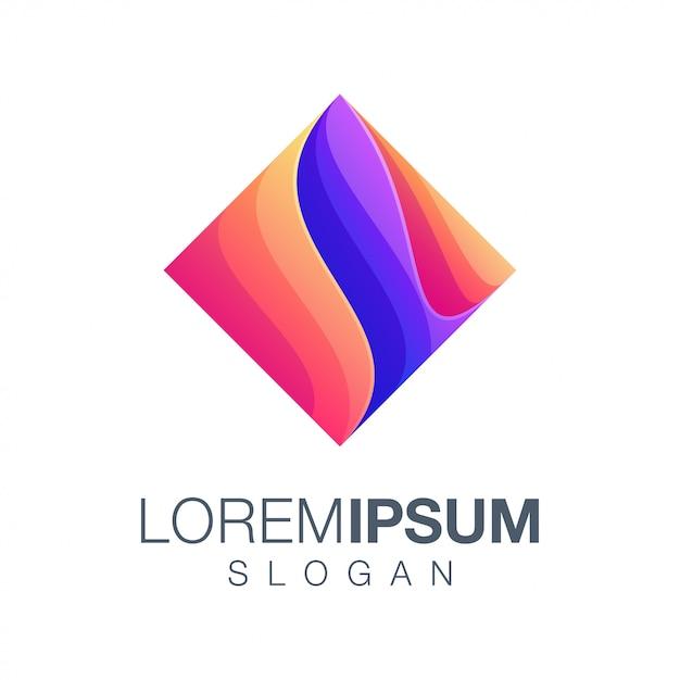 Box inspiration farbverlauf logo Premium Vektoren