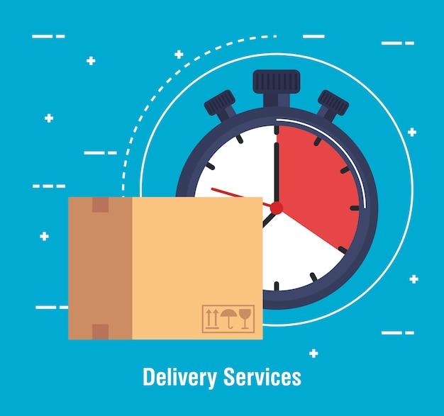 Box-lieferservice-symbol Premium Vektoren