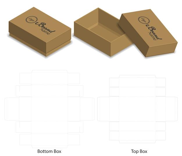 Box-Verpackung gestanzt Vorlage Design | Download der Premium Vektor