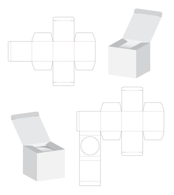 Box Verpackung Die Cut Vorlage 3d Modellerstellung