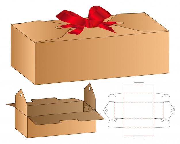 Box verpackung gestanzte template-design Premium Vektoren