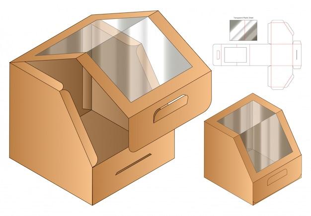 Box verpackung gestanzte vorlage design. Premium Vektoren