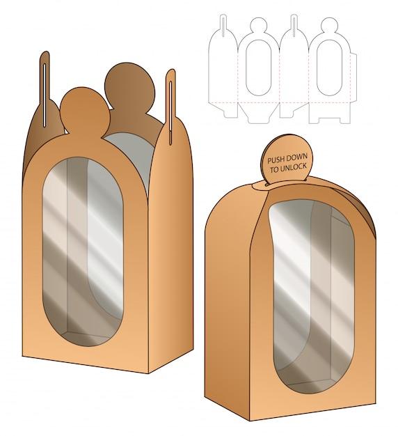 Box verpackung gestanzte vorlage Premium Vektoren