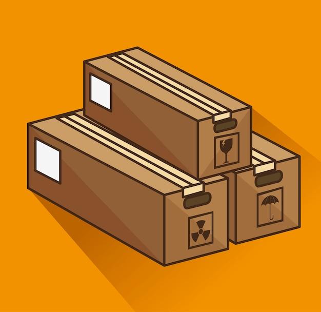 Boxen kartonverpackung lieferdienst Kostenlosen Vektoren