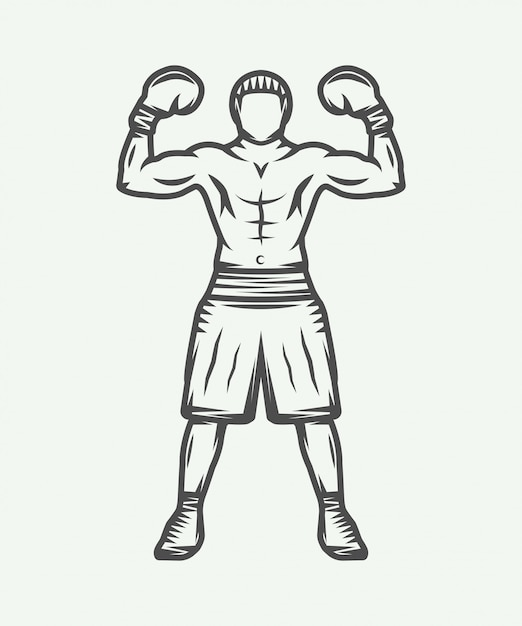 Boxer-logo Premium Vektoren