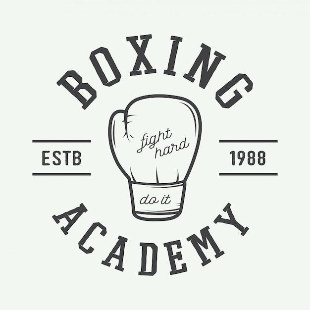Boxhandschuhe im vintage-stil. Premium Vektoren