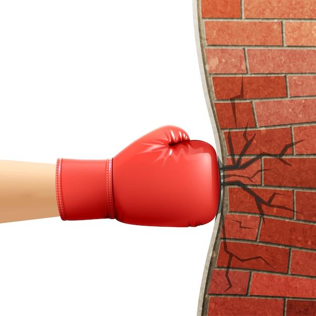 Boxhandschuhe sport zubehör ad illustration Kostenlosen Vektoren