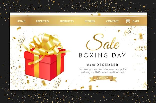 Boxing day landing page vorlage Premium Vektoren