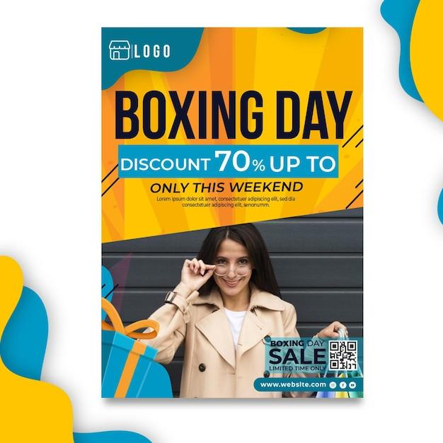 Boxing day poster vorlage Kostenlosen Vektoren