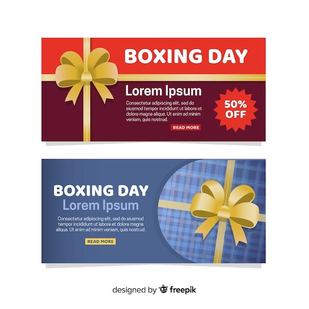 Boxing day sale banner Kostenlosen Vektoren