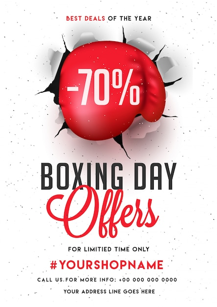 Boxing Day, Verkauf Banner, Poster oder Flyer Design mit Rabatt ...