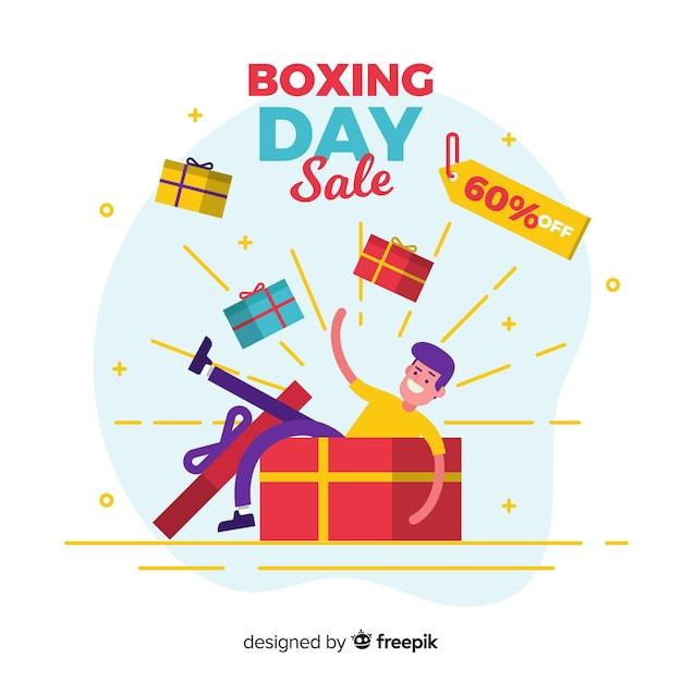 Boxing day verkauf banner Kostenlosen Vektoren