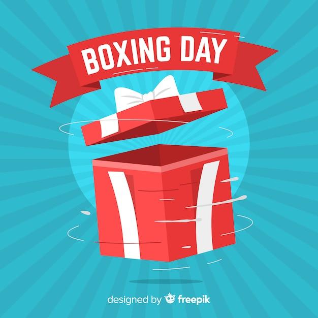 Boxing day verkauf hintergrund Kostenlosen Vektoren