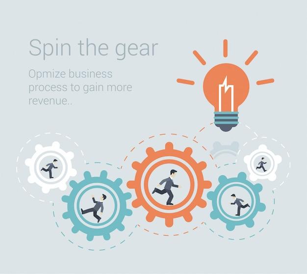 Brainstorming effektiver prozess teamwork innovation collaboration workforce concept flat design illustration Kostenlosen Vektoren