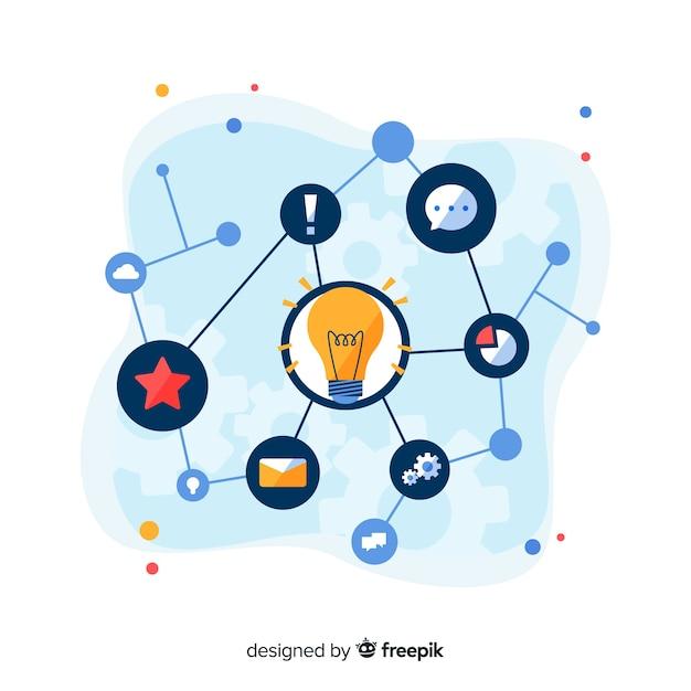 Brainstorming-konzept für die zielseite Kostenlosen Vektoren