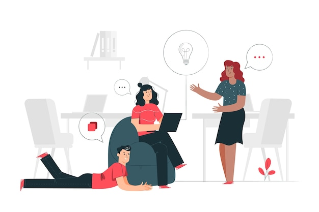 Brainstorming-konzept illustration Kostenlosen Vektoren