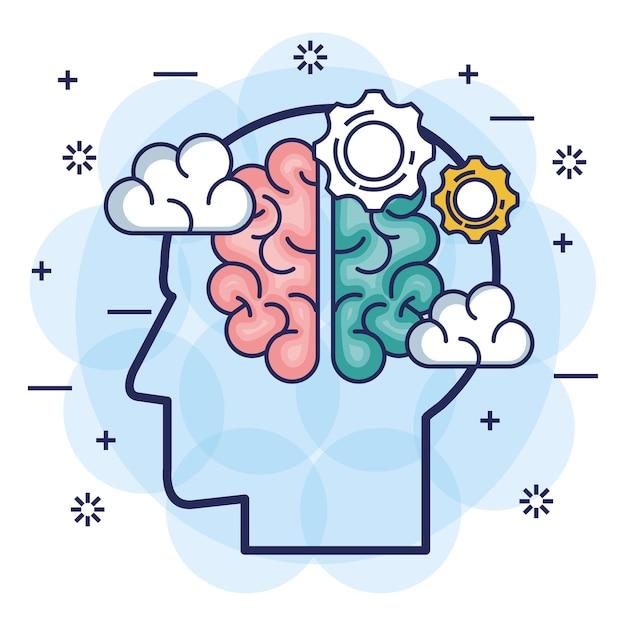 Brainstorming-set icons Premium Vektoren