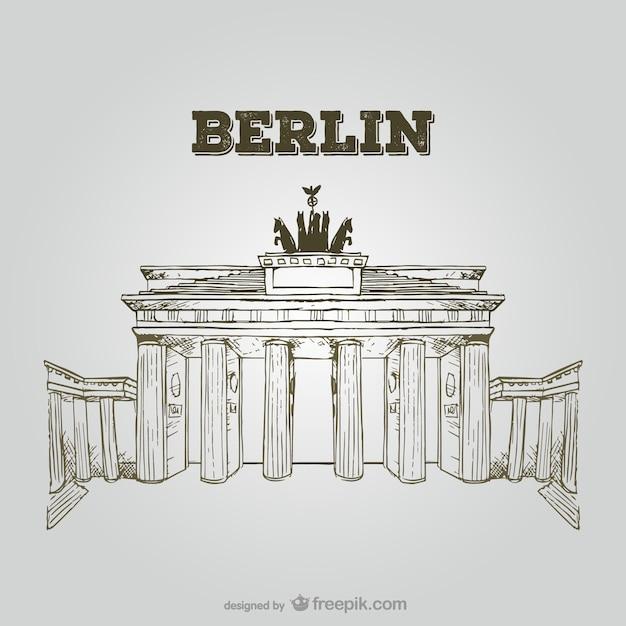 Brandenburger tor Kostenlosen Vektoren