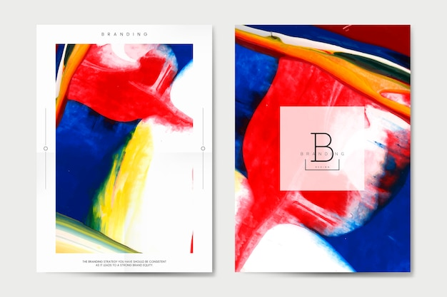 Brandingplakat mit abstraktem designvektor Kostenlosen Vektoren