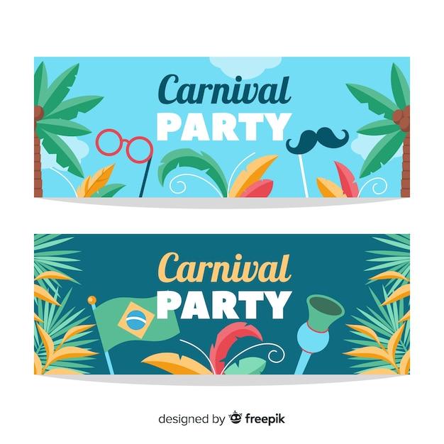 Brasilianische karnevalsfahne Kostenlosen Vektoren
