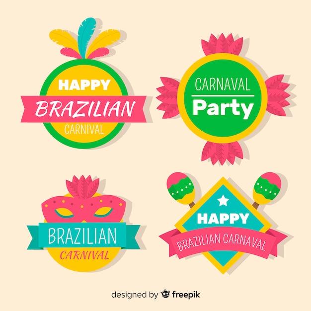 Brasilianische karnevalskollektion Kostenlosen Vektoren