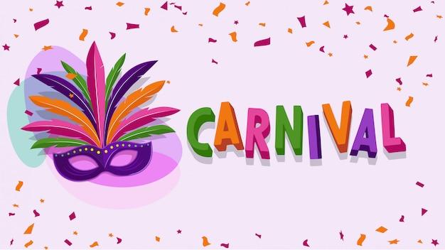 Brasilianische karnevalsparty-vektorillustration Premium Vektoren