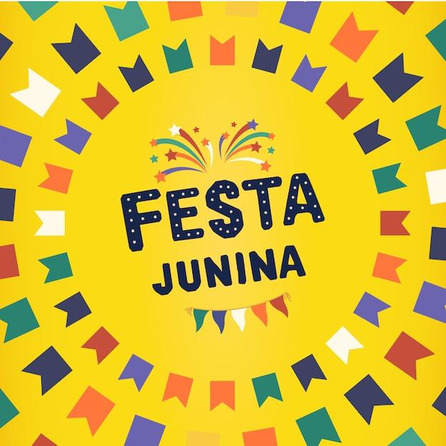 Brasilianische traditionelle feier festa junina. Premium Vektoren