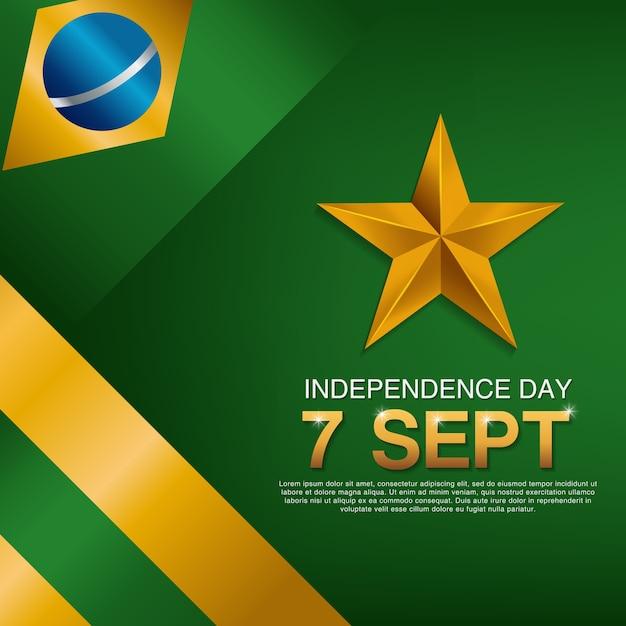 Brasilianische unabhängigkeitstag poster Premium Vektoren