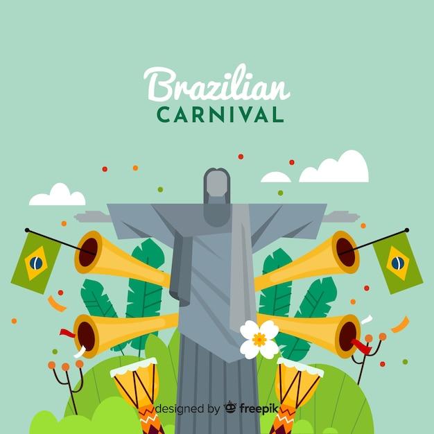 Brasilianischer karnevalshintergrund Kostenlosen Vektoren