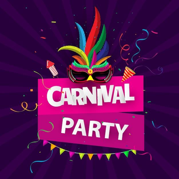 Brasilianischer karnevalshintergrund Premium Vektoren