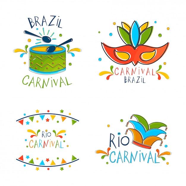 Brasilianisches karnevalskonzept. Premium Vektoren
