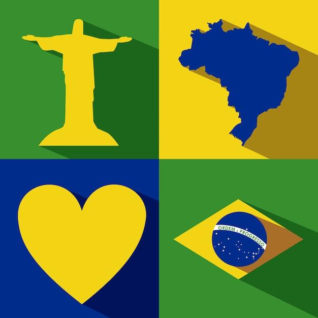Brasilien-design Premium Vektoren