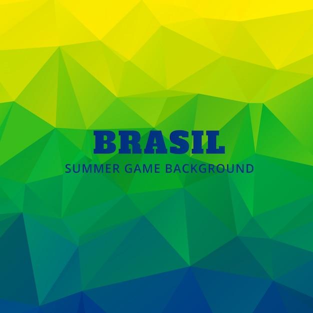 Brasilien flagge farben dreieck hintergrund Premium Vektoren