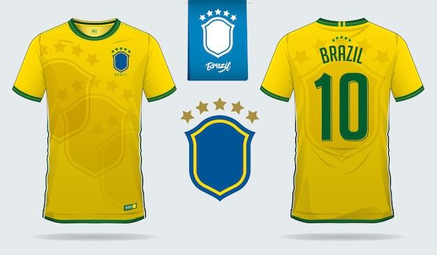 brasilienfußball jersey oder fußballkitvorlage
