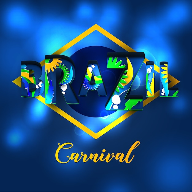 Brasilien karneval feier brief Premium Vektoren