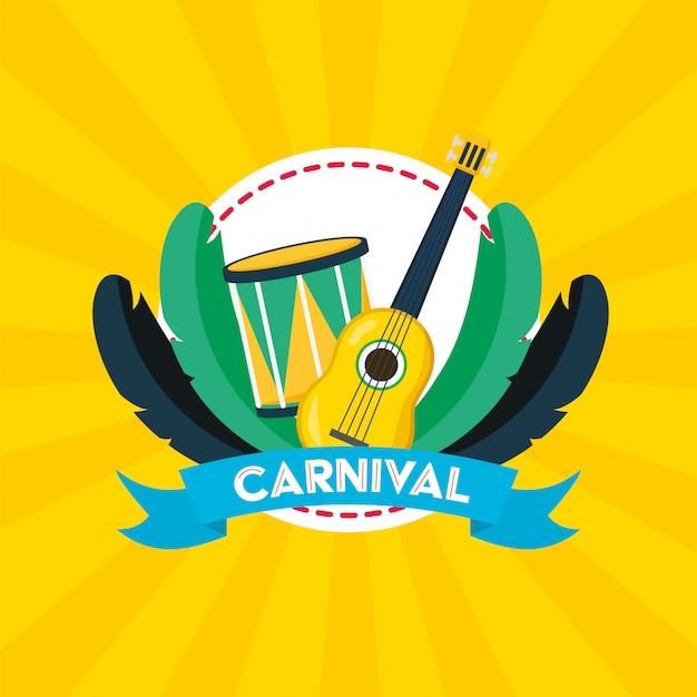 Brasilien karneval festival Kostenlosen Vektoren