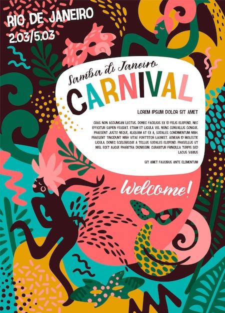 Brasilien karneval Premium Vektoren