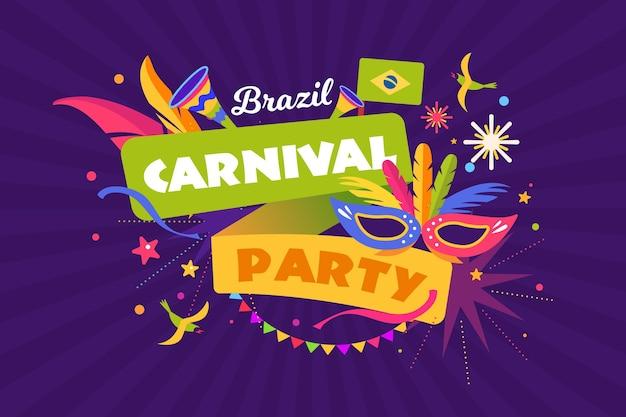 Brasilien karnevalsfestival vorlage Kostenlosen Vektoren