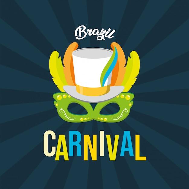 Brasilien-karnevalsfestivalhintergrund Kostenlosen Vektoren