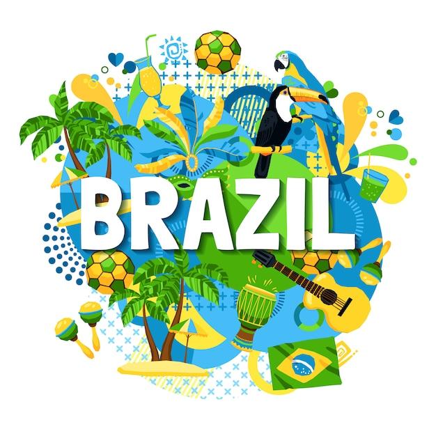 Brasilien-karnevalsplakat Kostenlosen Vektoren