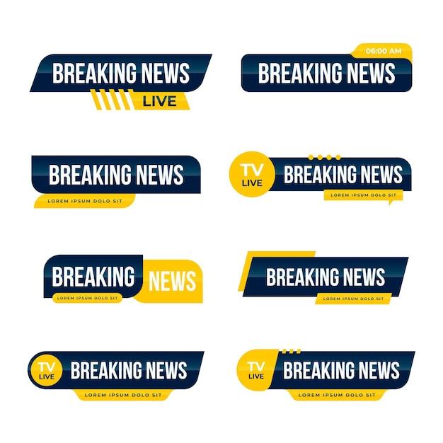 Breaking news banner stil Kostenlosen Vektoren