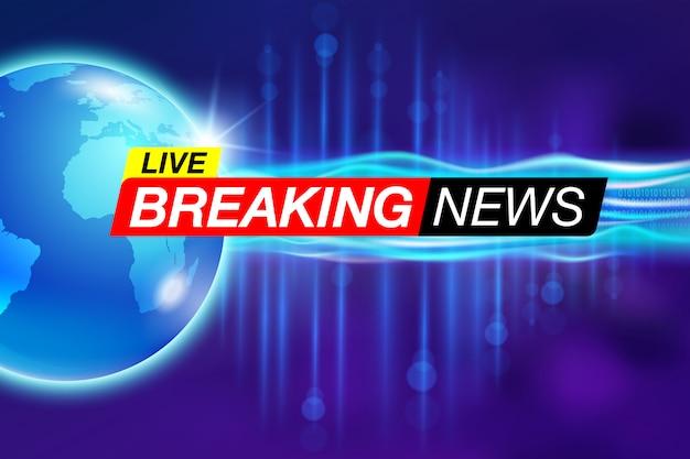 Breaking news-bericht Premium Vektoren
