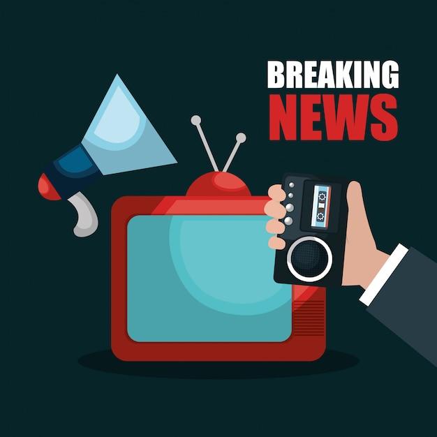 Breaking news design Premium Vektoren