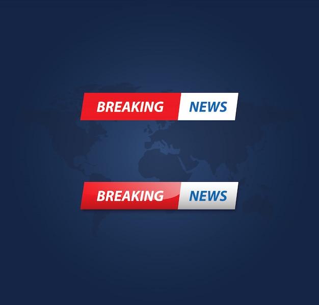 Breaking news-vektor Premium Vektoren
