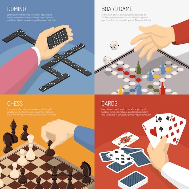 Brettspiele-design-konzept Kostenlosen Vektoren