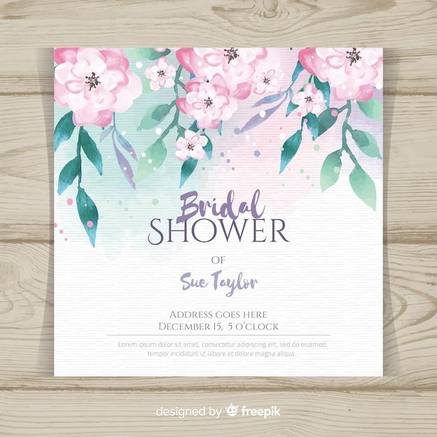 Bridal shower einladung Kostenlosen Vektoren
