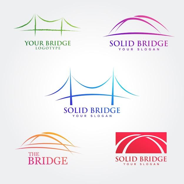 Bridge symbol design sammlungen Premium Vektoren