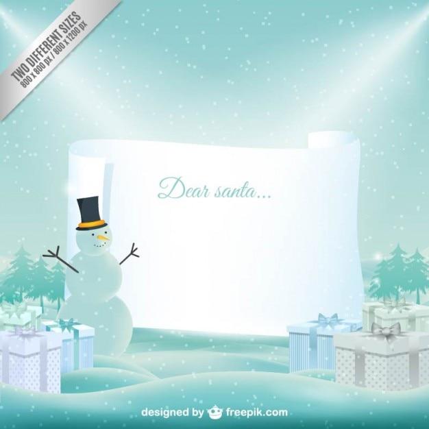 Brief An Den Weihnachtsmann Vektor Vorlage Download Der